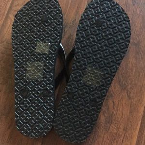 02653c3ec86ba0 Tory Burch Shoes - Tory Burch Flip Flops Cheetah Black Brown size 9